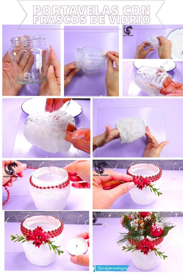 Decora frascos de vidrio